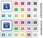 browser tools color flat icons...   Shutterstock .eps vector #1202262040