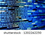 big overload blockchain data.... | Shutterstock . vector #1202262250