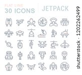 set of vector line icons of... | Shutterstock .eps vector #1202262499
