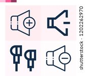 contains such icons as volume... | Shutterstock .eps vector #1202262970