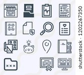 simple set of  16 outline icons ... | Shutterstock .eps vector #1202267350