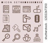 simple set of  16 outline icons ... | Shutterstock .eps vector #1202267353