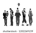 fathers day set  group of... | Shutterstock .eps vector #1202269159