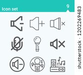 contains such icons as speakers ... | Shutterstock .eps vector #1202269483