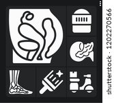 set of 6 man filled icons such... | Shutterstock .eps vector #1202270566