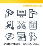 simple set of  9 outline icons... | Shutterstock .eps vector #1202272063