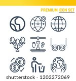 simple set of  9 outline icons... | Shutterstock .eps vector #1202272069