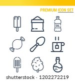 simple set of  9 outline icons... | Shutterstock .eps vector #1202272219