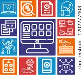 set of 13 web outline icons... | Shutterstock .eps vector #1202277403