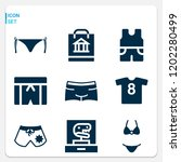 simple set of  9 filled icons... | Shutterstock .eps vector #1202280499
