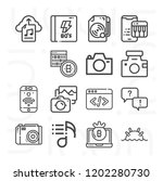 camera  cryptography  notebook  ... | Shutterstock .eps vector #1202280730