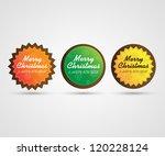 merry christmas badges | Shutterstock .eps vector #120228124