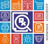 set of 13 web outline icons... | Shutterstock .eps vector #1202282419