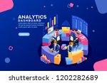 charts key server statistic ... | Shutterstock . vector #1202282689