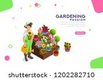 bud concept  florist with... | Shutterstock . vector #1202282710