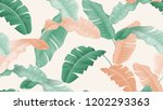 tropical plants seamless... | Shutterstock .eps vector #1202293363