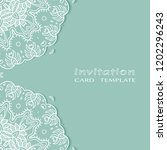 invitation or card template... | Shutterstock .eps vector #1202296243