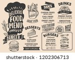 burger menu template for... | Shutterstock .eps vector #1202306713