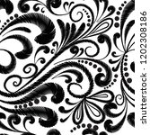 embroidery floral vector... | Shutterstock .eps vector #1202308186