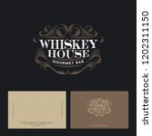 whiskey house logo. vintage pub ... | Shutterstock .eps vector #1202311150
