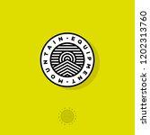 mountain equipment logo.... | Shutterstock .eps vector #1202313760