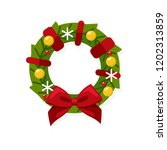 christmas concept traditional... | Shutterstock .eps vector #1202313859
