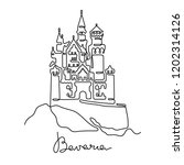 bavaria continuous line drawing.... | Shutterstock .eps vector #1202314126