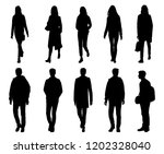 vector silhouettes men and... | Shutterstock .eps vector #1202328040