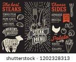 steak menu template for...   Shutterstock .eps vector #1202328313