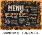 bakery menu template for... | Shutterstock .eps vector #1202328316