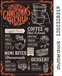 christmas menu template for... | Shutterstock .eps vector #1202328319