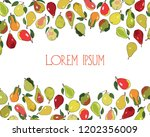 vector card with hand drawn... | Shutterstock .eps vector #1202356009