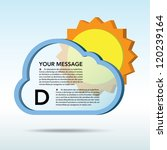 Abstract 3D weather speech bubble background.EPS10 - stock vector