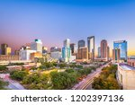 houston  texas  usa downtown... | Shutterstock . vector #1202397136