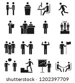 a set of human action...   Shutterstock .eps vector #1202397709