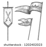 medieval age flags illustration ...   Shutterstock .eps vector #1202402023