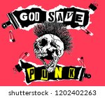 God Save Punk. Screaming Skull...