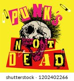 punk's not dead. screaming... | Shutterstock .eps vector #1202402266