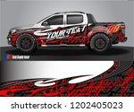 pickup truck wrap design vector....   Shutterstock .eps vector #1202405023
