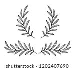 hand drawn olive branches and... | Shutterstock .eps vector #1202407690