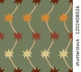 hand drawn star shapes and zig... | Shutterstock .eps vector #1202408026