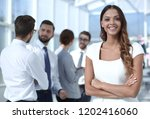 portrait of a young business... | Shutterstock . vector #1202416060