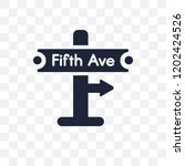 fifth avenue transparent icon....   Shutterstock .eps vector #1202424526