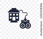 remote vehicle transparent icon.... | Shutterstock .eps vector #1202428306