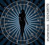 astrological zodiac horoscope... | Shutterstock .eps vector #1202428570
