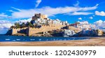 peniscola   spanish town with... | Shutterstock . vector #1202430979