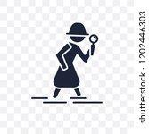 detective transparent icon....   Shutterstock .eps vector #1202446303