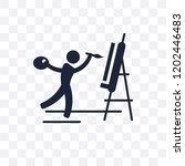 painter transparent icon....   Shutterstock .eps vector #1202446483