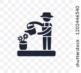 florist transparent icon.... | Shutterstock .eps vector #1202446540