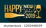 2019 happy new year banner.... | Shutterstock .eps vector #1202448439